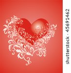 valentines day background with... | Shutterstock .eps vector #45691462
