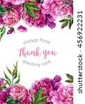 vintage watercolor floral... | Shutterstock . vector #456922231
