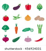big collection of vegetables... | Shutterstock .eps vector #456924031