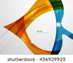 leaf shape wave abstract... | Shutterstock . vector #456929935
