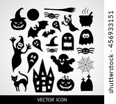 halloween vector icons | Shutterstock .eps vector #456933151