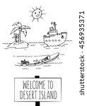 desert island. fun vector... | Shutterstock .eps vector #456935371