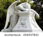 despair   statue of a weeping...   Shutterstock . vector #456937831
