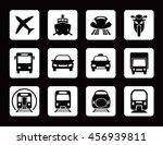 Various Transportation Icon Se...