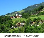 beautiful alpine landscape  in... | Shutterstock . vector #456940084