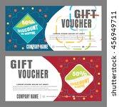 blank of gift voucher vector...   Shutterstock .eps vector #456949711