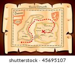 old sea map of the island of... | Shutterstock .eps vector #45695107