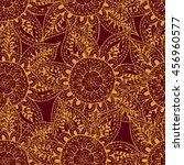 abstract flower seamless...   Shutterstock .eps vector #456960577