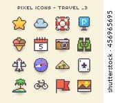 Pixel Icons Travel 3