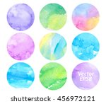 watercolor vector set colorful... | Shutterstock .eps vector #456972121