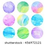 Watercolor Vector Set Colorful...