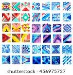 watercolor textile textures.... | Shutterstock . vector #456975727