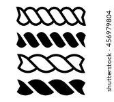 fusilli pasta black line icon... | Shutterstock .eps vector #456979804