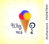 """""""why not """" lettering with ice... 