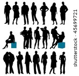 collection of people. this... | Shutterstock .eps vector #45699721