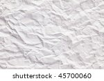 texture of crushed paper - stock photo