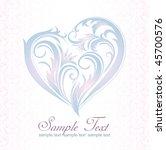 wedding greeting card | Shutterstock .eps vector #45700576