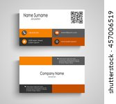 business card with orange and... | Shutterstock .eps vector #457006519