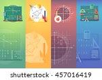 mathematics banners. flat... | Shutterstock . vector #457016419