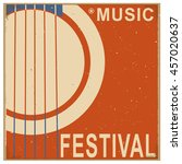 music festival background with ... | Shutterstock .eps vector #457020637
