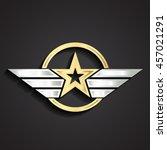 golden military star symbol... | Shutterstock .eps vector #457021291