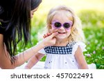 close up portrait adorable... | Shutterstock . vector #457022491