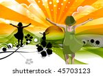 illustration of a girl at the... | Shutterstock . vector #45703123