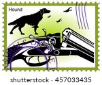 Stamp Hunting Rifle With Dog...