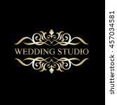 luxury logo | Shutterstock .eps vector #457034581