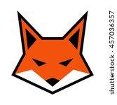 fox face logo vector icon | Shutterstock .eps vector #457036357