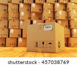 distribution warehouse  package ... | Shutterstock . vector #457038769
