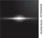 realistic beam light on... | Shutterstock .eps vector #457040434