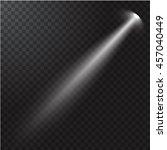 realistic beam light on... | Shutterstock .eps vector #457040449