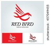 Red Bird Logo Vector Design...