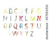 colorful vector font isolated... | Shutterstock .eps vector #457051531