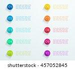 number bullet points flat... | Shutterstock .eps vector #457052845