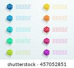 number bullet points flat... | Shutterstock .eps vector #457052851