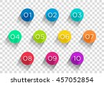 number bullet points flat... | Shutterstock .eps vector #457052854
