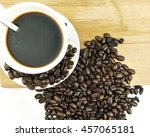 brown coffee and brown coffee... | Shutterstock . vector #457065181