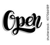 lettering phrase the open ... | Shutterstock .eps vector #457066489