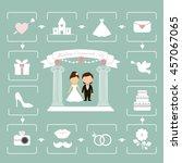 wedding | Shutterstock .eps vector #457067065