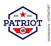patriotic badge and emblem... | Shutterstock .eps vector #457067587