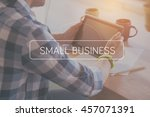 small business concept | Shutterstock . vector #457071391