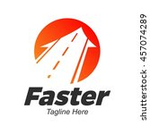 speed and fast logo template ... | Shutterstock .eps vector #457074289