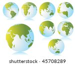 collection of globe with... | Shutterstock .eps vector #45708289