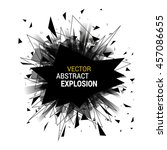 abstract explosion banner.... | Shutterstock .eps vector #457086655