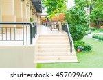 outdoor stair walk way in park   Shutterstock . vector #457099669