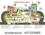 urban city vector illustration... | Shutterstock .eps vector #457105885