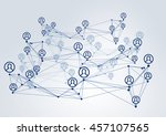 social interaction concept .... | Shutterstock . vector #457107565