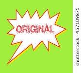 original red wording on speech... | Shutterstock . vector #457109875
